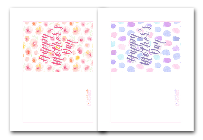 Watercolor Mother's Day Cards