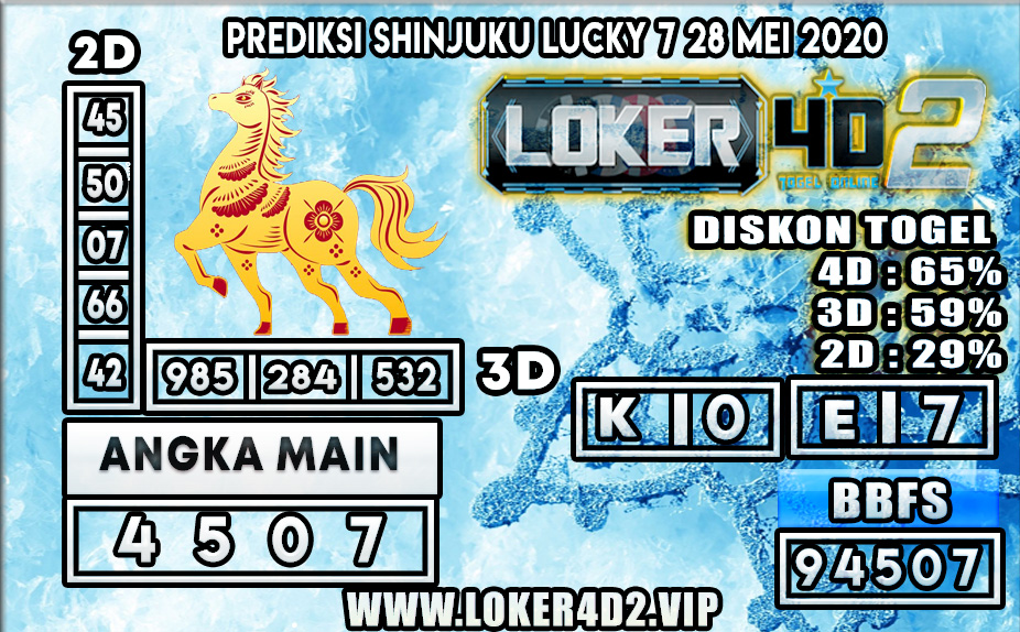 PREDIKSI TOGEL SHINJUKU LUCKY 7 LOKER4D2 28 MEI 2020