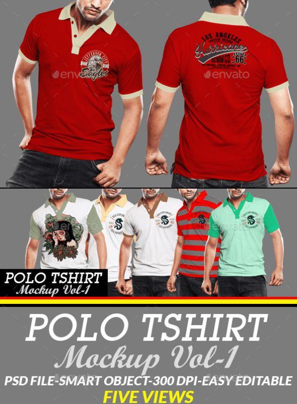 9. Polo T-Shirt Mockup