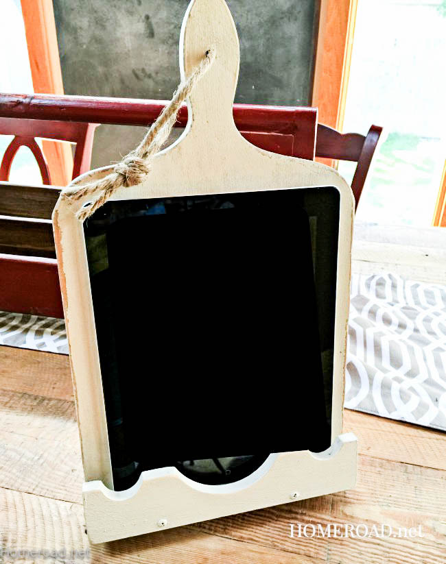 Vintage Cutting Board Ipad Stand www.homeroad.net