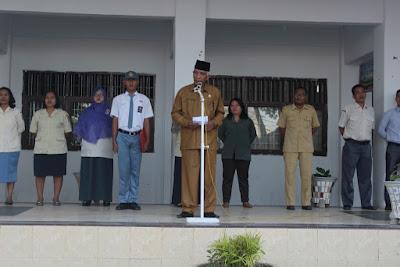 Plt. Kakankemenag Tanjungbalai Jadi Pembina Upacara SMA Negeri 7 Tanjungbalai