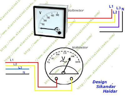 How To Wire Voltmeter In 3 Phase Wiring - Electrical Online 4u