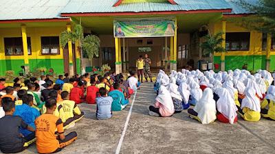 Satgas TMMD Kodim 0321/Rohil Kembali Menyambangi Sekolah yang Ada di Kabupaten Rohil