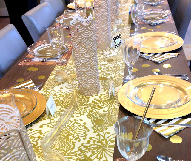 Gold themed party ideas.