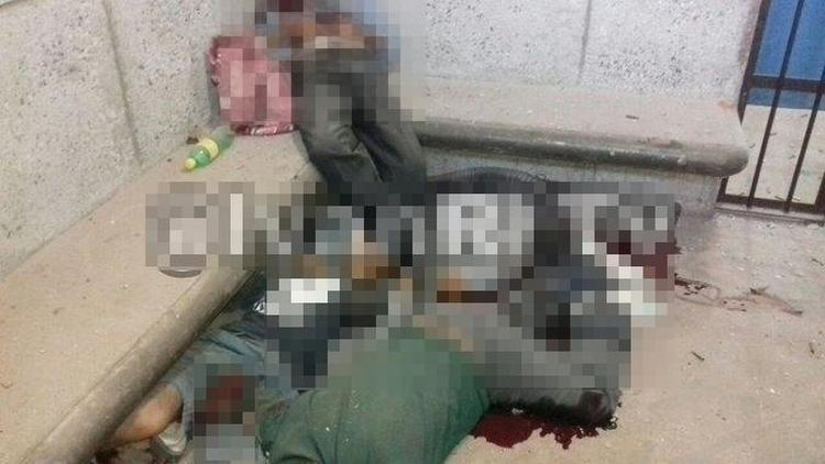 """Convoy de empecherados entran a separos de Valle de Santiago, Gto, rescata al """"Mano Mocha"""" y ejecutan a 5 detenidos"""