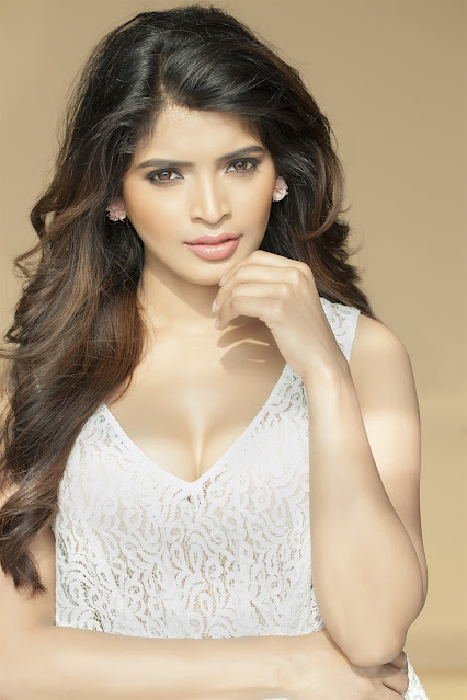 Sanchita Shetty Latest Hot Photoshoot Stills in White Dress Navel Queens