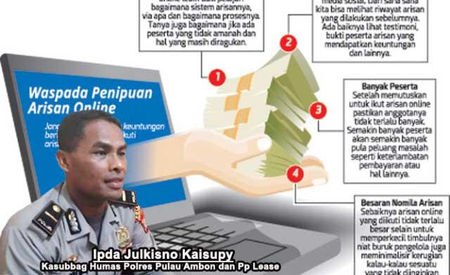 Puluhan Warga Ambon Tertipu Arisan Online Maluku Post