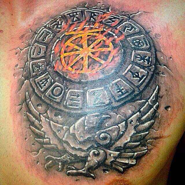 Tatuaje de runas amuleto