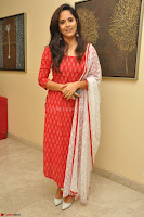 Anasuya Bharadwaj in Red at Kalamandir Foundation 7th anniversary Celebrations ~  Actress Galleries 038.JPG