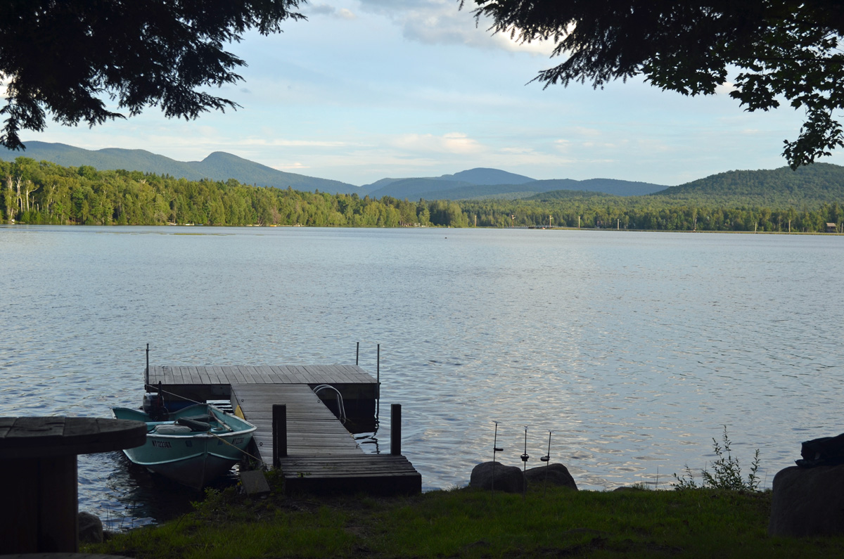 Cliffs at Indian Lake NY in the Adirondack mountains by