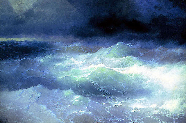 an Ivan Aivazovsky painting of a stormy sea