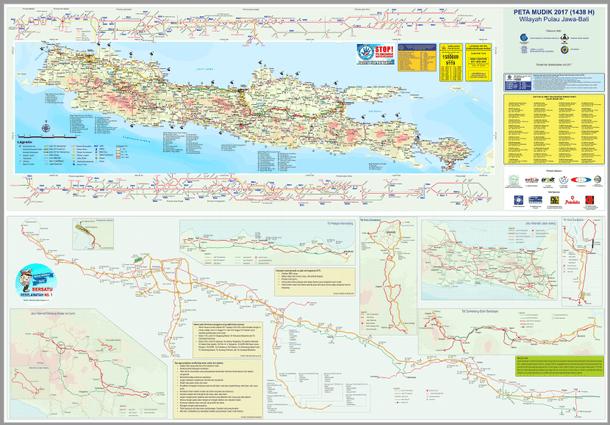 Berikut ini adalah informasi dan berkas Peta Mudik Lebaran  Peta Mudik Lebaran 2017 (1438 H) Badan Informasi Geospasial (BIG)