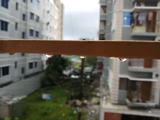 Rain drops from balcony pictures