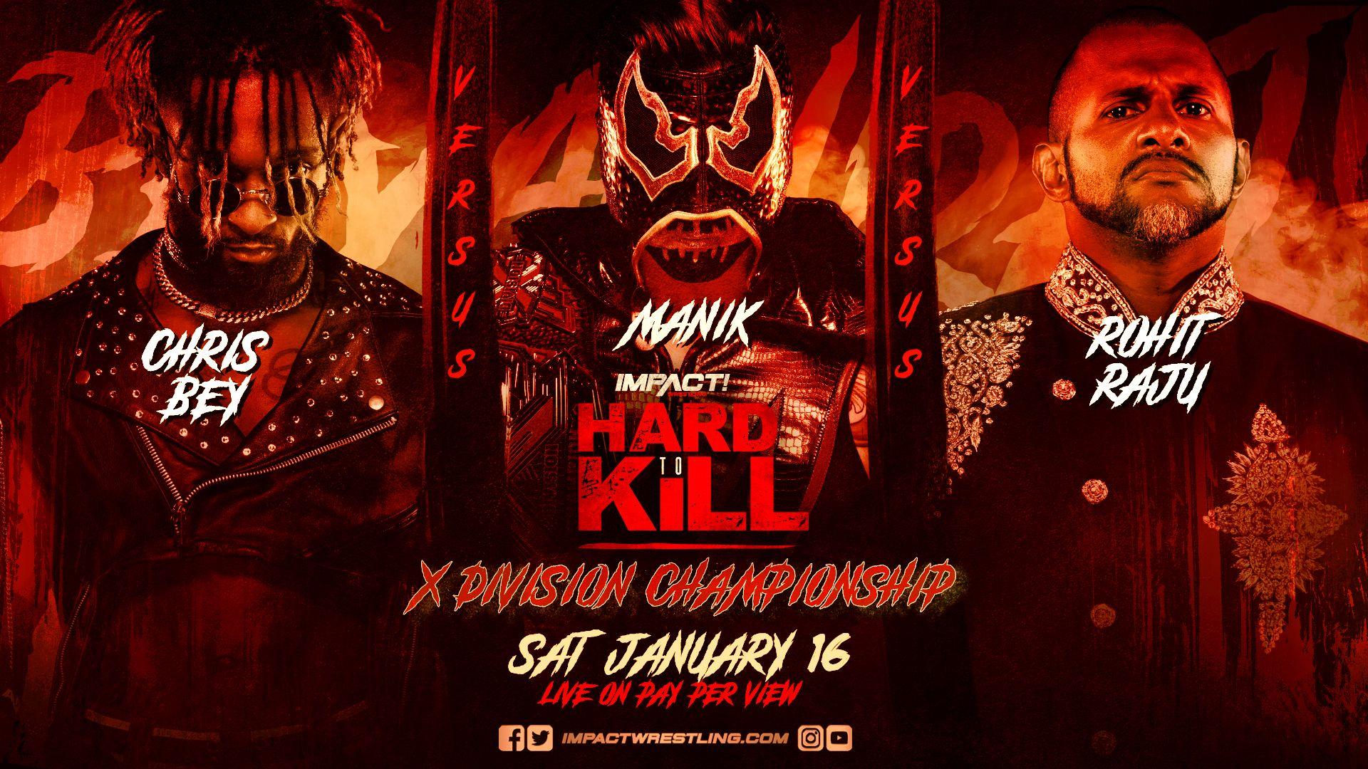 IMPACT X-Division Championship Match anunciada para o Hard to Kill 2021