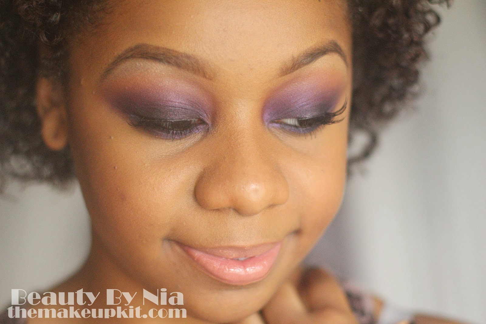 Smoked out purple eye make up look 4