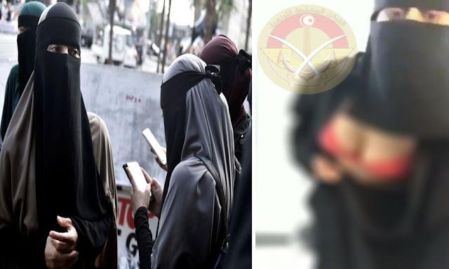 داعشي تونسي يضبط زوجته متلبسة