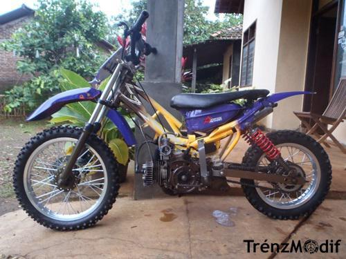 Gambar Modifikasi Motor Trail Bebek Standar