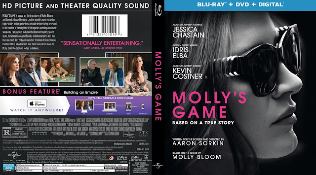 Molly's Game Bluray Cover