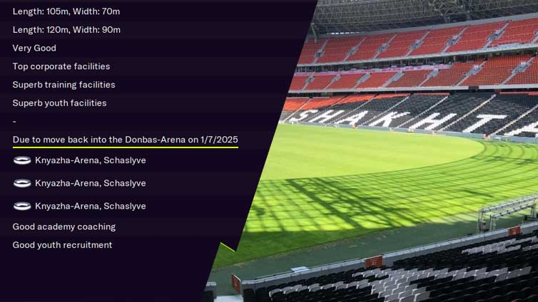 FM2021 Teams to Manager Shakhtar Donetsk