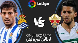 مشاهدة مباراة ريال سوسييداد وإلتشي بث مباشر اليوم 07-05-2021 في الدوري الإسباني