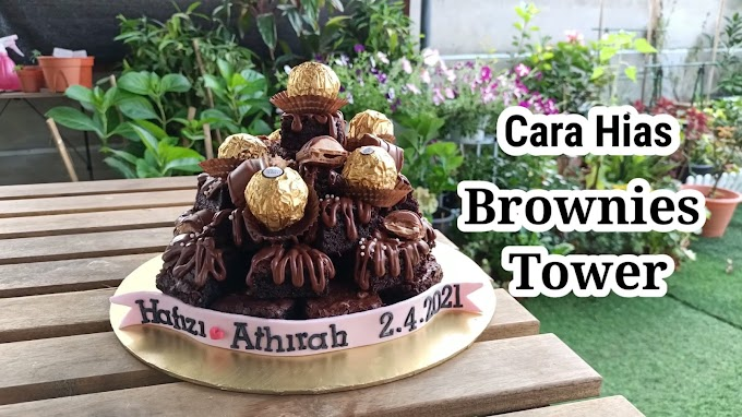 Jom Belajar Cara Hias Brownies Dengan Cantik