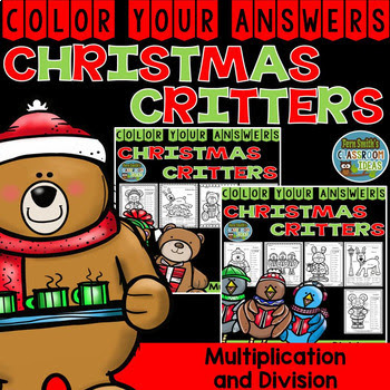Fern Smith's Classroom Ideas Christmas Color By Number Advance Multiplication and Division Bundle at TeacherspayTeachers.