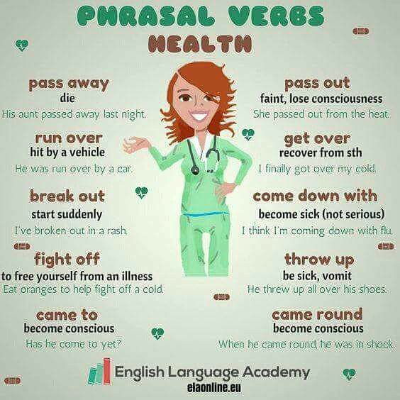 Learn Phrasal Verbs for Health