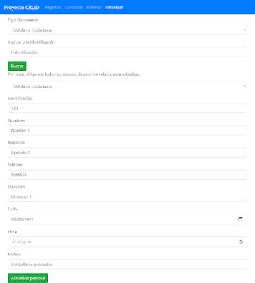 UPDATE en PHP y MySQL