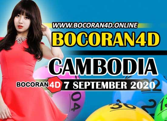 Bocoran 4D Cambodia 7 September 2020