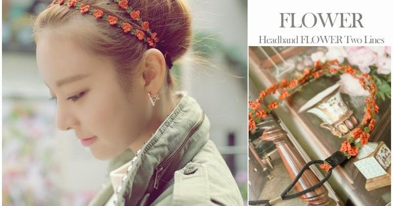 Korea Shop Headband Flower Two Lines Hair Band Handmade Accessory
