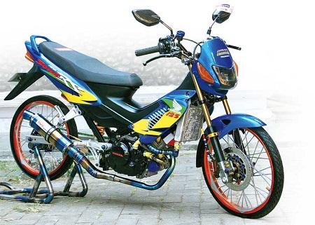 Modifikasi satria Fu thailand