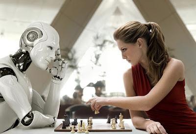 yapay zeka bir tehdit mi, satranç oynayan robot