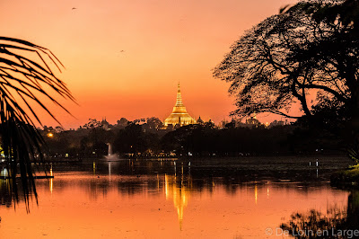 Kandawgyi lake - Shwedagon - Yangon - Birmanie - Myanmar