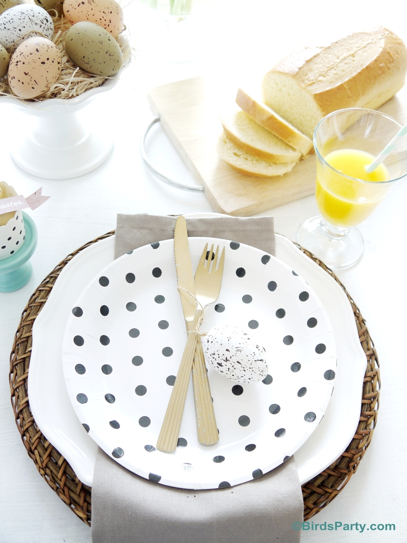 Our Easter Brunch Tablescape - Party Ideas | Party Printables Blog
