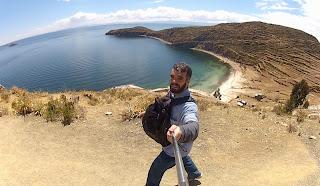 Mais uma pose para foto na Ilha do Sol.