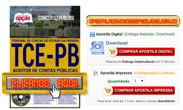 Apostila Concurso TCE PB 2017 PDF Auditor de Contas Públicas