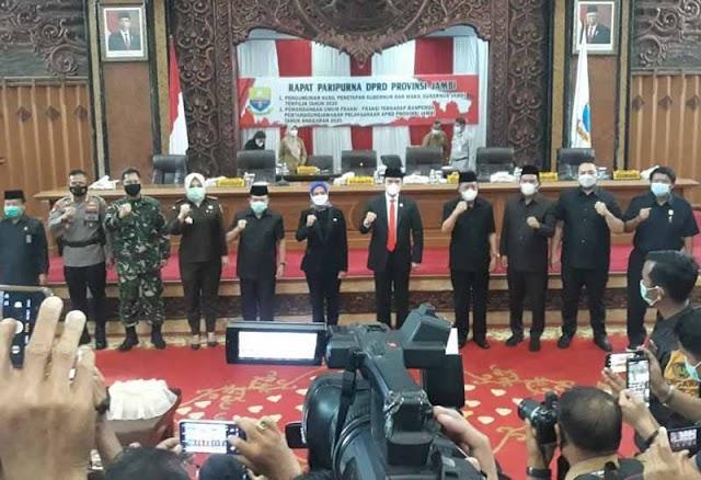 Paripurna DPRD Provinsi Jambi Tetapkan Al Haris-Abdullah Sani Gubernur Jambi