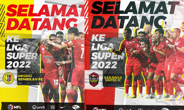 Sarawak United dan Negeri Sembilan Melangkah Ke Liga Super 2022