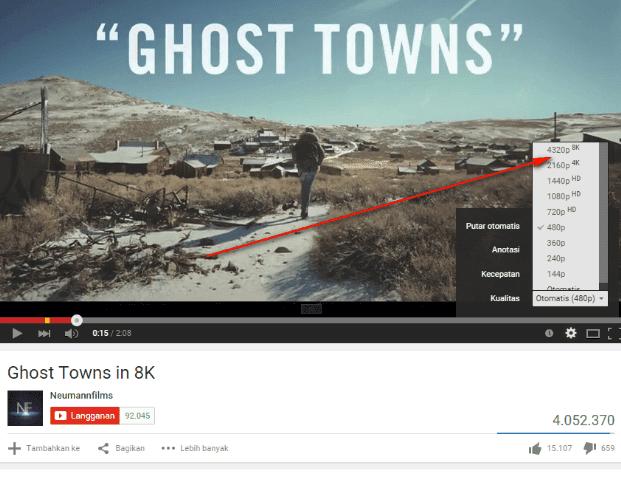 Ghost Town Video Pertama dengan Kualitas 8K di YouTube
