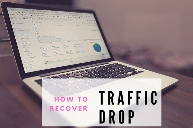 how to recover from sudden fall in website traffic