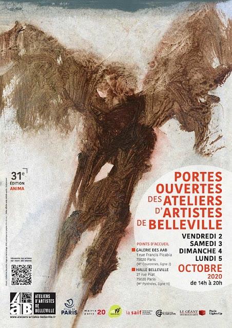 Portes ouvertes 2020 des Ateliers d'Artistes de Belleville