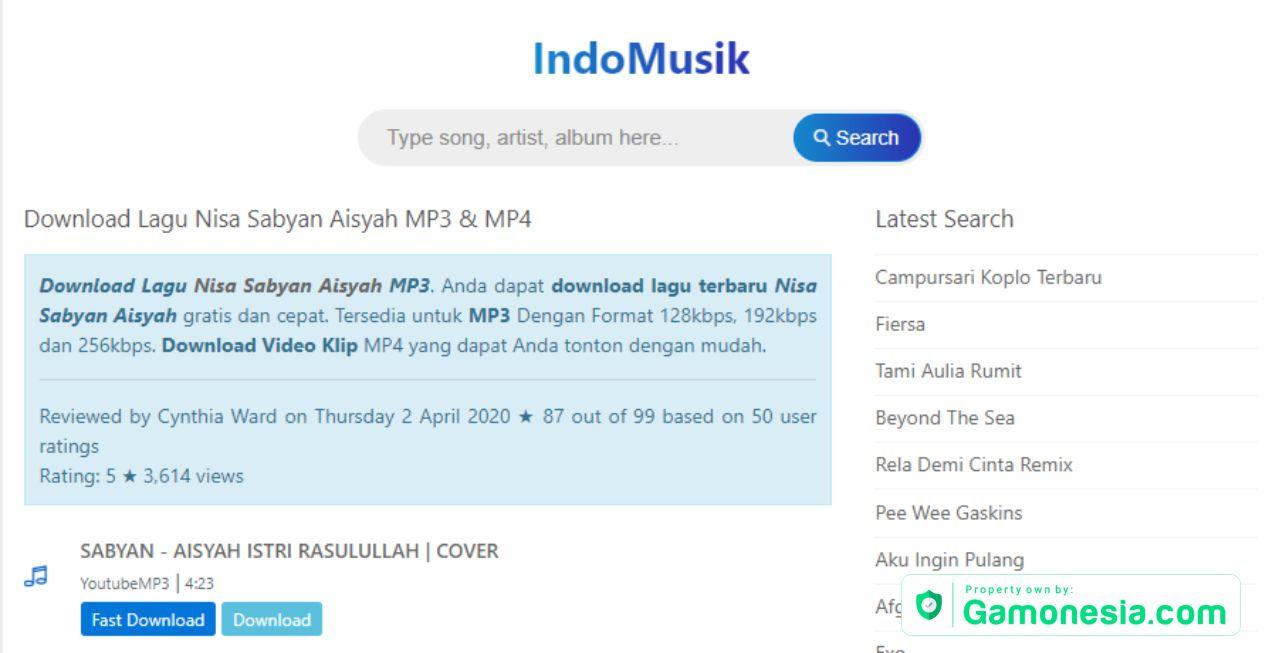 indomusik kumpulan lagu terbaru