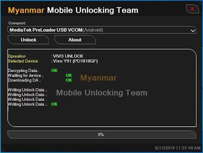 Myanmar Mobile Unlocking Team - (MMU Mediatek Security Unlock V1.0.02) Free Download