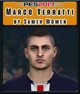 PES 2017 Faces Marco Verratti by Sameh Momen