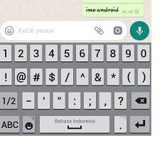 menulis pesan whatsapp coret