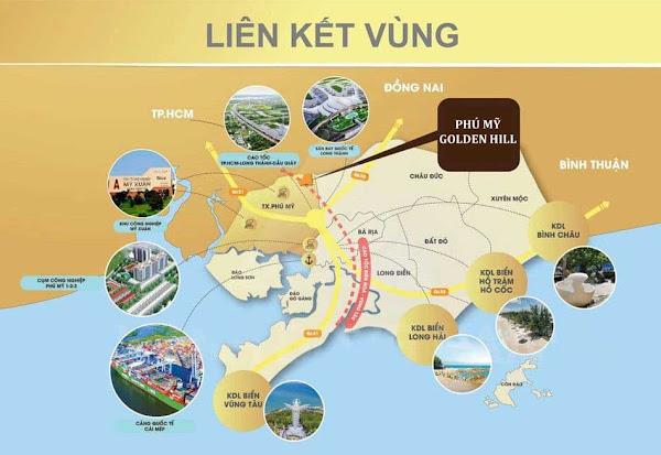 bản đồ liên kết vùng dự án phú mỹ golden hill bà rịa