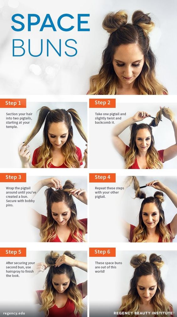 Space Buns Womens Hairstyle