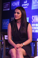 Actress Shraddha Srinath Stills in Black Short Dress at SIIMA Short Film Awards 2017 .COM 0046.JPG
