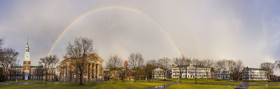 Rainbow arcing over Webster Hall