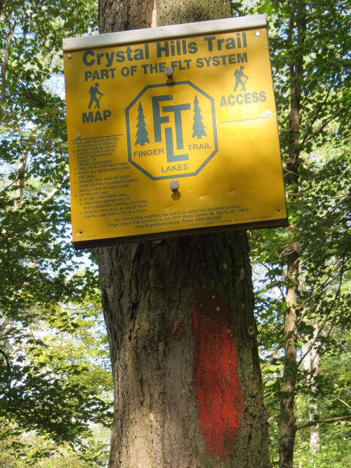 Crystal Hills Trail sign